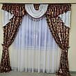 Комплект штор з ламбрекеном Сандра з жаккарду з люрексом (для спальні та вітальні), фото 5