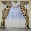 Комплект штор з ламбрекеном Сандра з жаккарду з люрексом (для спальні та вітальні), фото 6