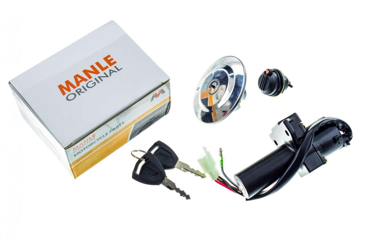 Замок зажигания (комплект) Ямаха (Yamaha) ЮБР (YBR) 125 (+крышка бака)