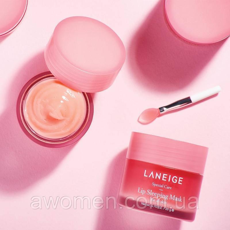 Уценка! Ночная маска для губ Laneige Lip Sleeping Mask 20 g с кисточкой (мятая коробка)