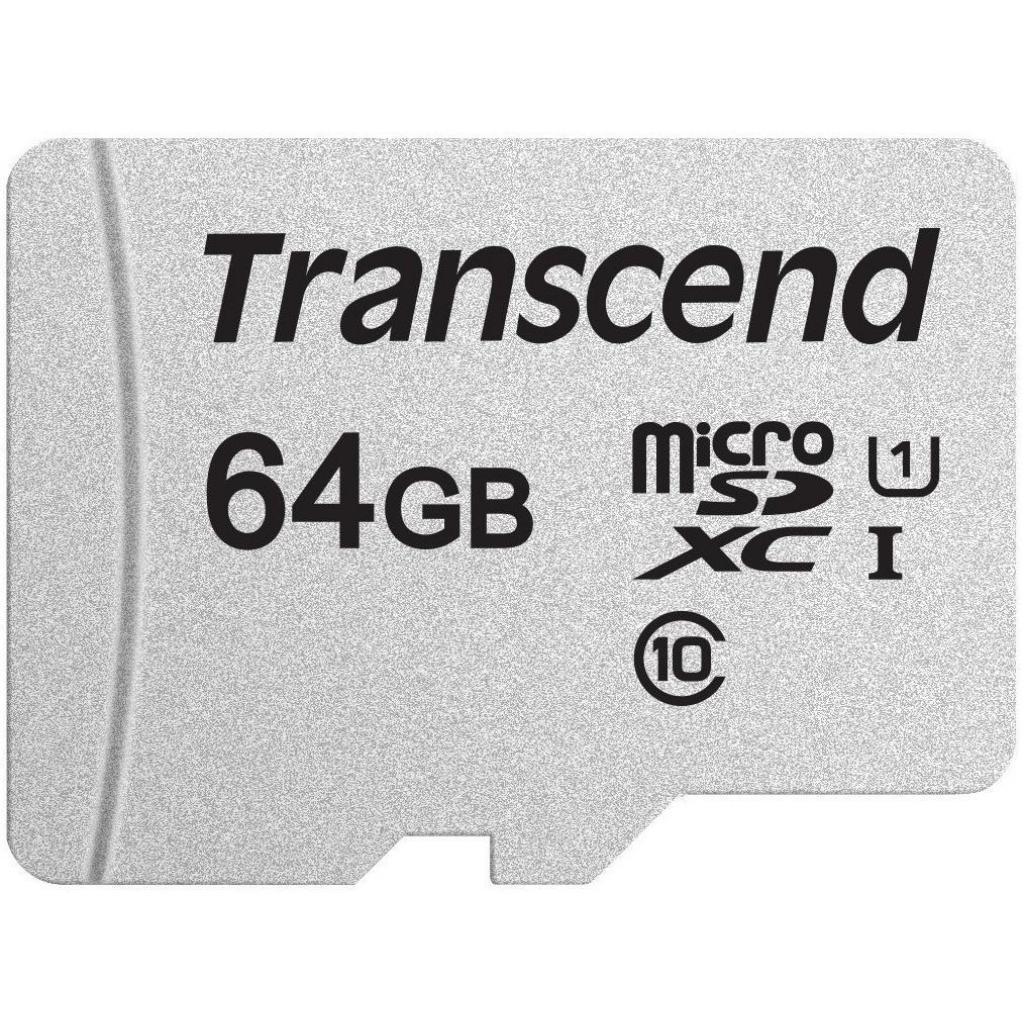 Карта памяти Transcend 64GB microSDXC class 10 UHS-I U1 (TS64GUSD300S)