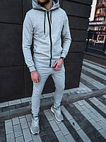 Спортивный костюм свободного кроях grey мужской весенний / летний ТОП