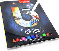 Набір фломастерів FELT TIPS DARK, 12кол., Bruynzeel 60224012