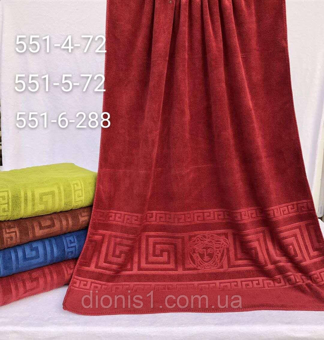 Банное полотенце версаче состав: фибра, размер 50х90 кол-во 8 шт