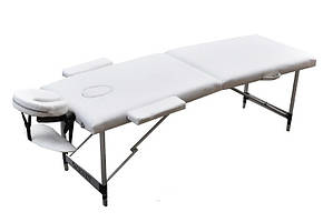 Массажный стол  переносной ZENET  ZET-1044 WHITE размер L (195*70*61), фото 2