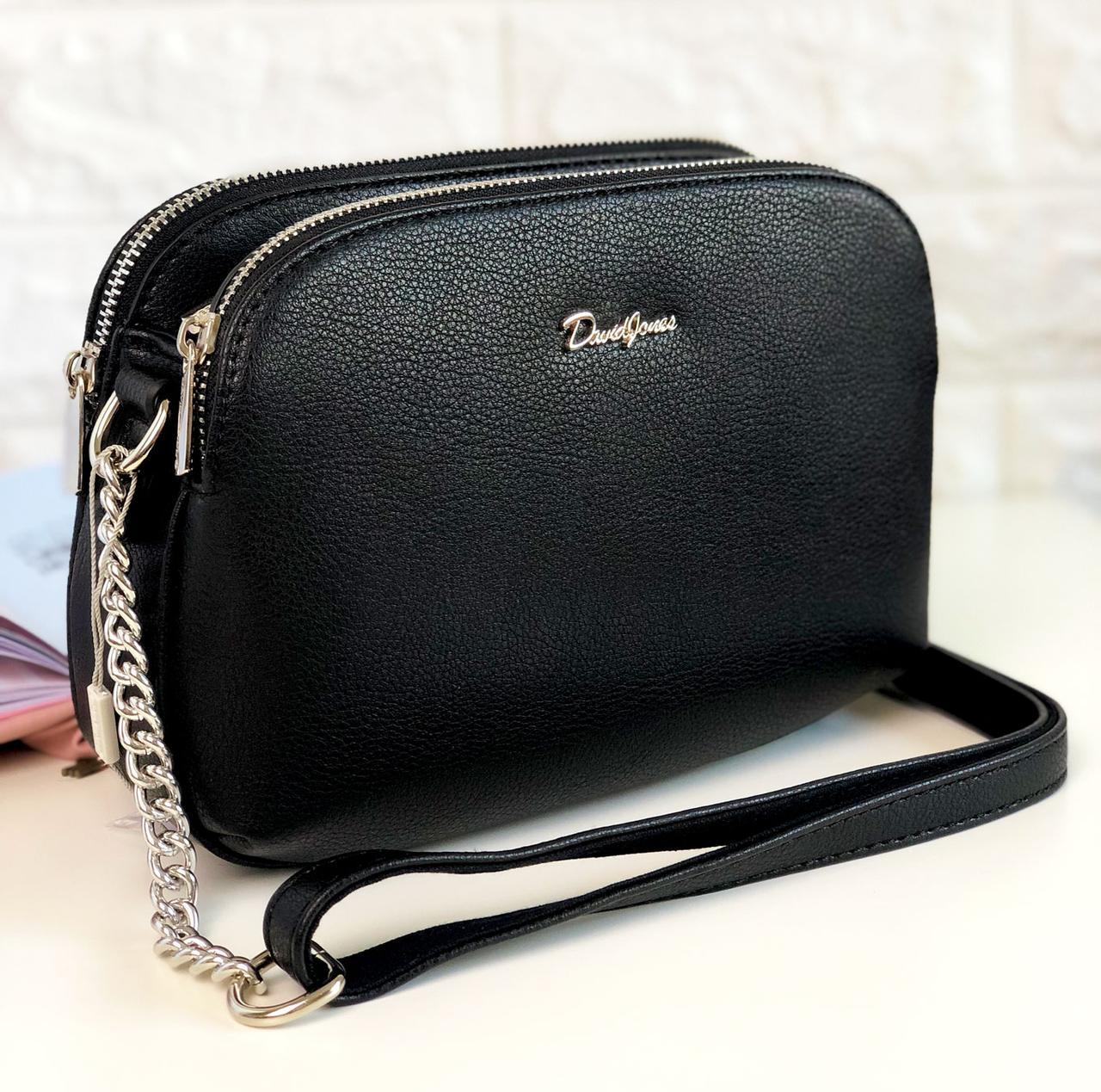 Женская сумка David Jones 6200 Черная