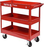 Тележка искусный YATO 3-уровневый на 4 колесах, максимальная нагрузка - 130 кг