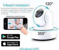 Поворотная WiFi IP камера видеонаблюдения для дома и квартиры