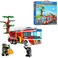 """Конструктор для детей от 6 лет, набор """"Пожарная машина"""" на 330 деталей"""