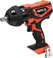 Гайковерт ударный аккумуляторный YATO 18 В 300 Нм + 4 насадки (без аккумулятора и зарядного устройства)