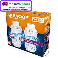 """Картриджи Аквафор В100-6 """"Умягчение для жесткой воды"""" (2 сменных модуля в комплекте)"""