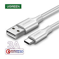 Короткий кабель USB Type-C 3А для быстрой зарядки Ugreen 25см (белый)