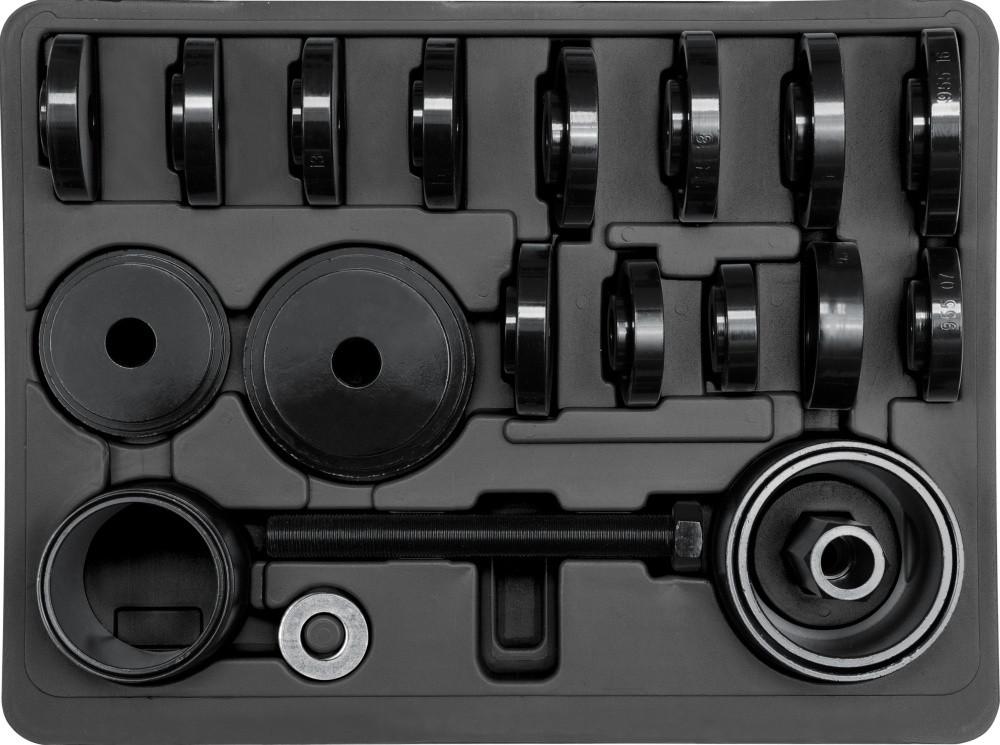 Съемник подшипника передней ступицы YATO набор 23 шт.