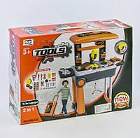 Игрушечный набор строительных инструментов в чемодане на колёсиках 008-922