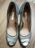 Женские туфли серебристые  сетка Guess, фото 2
