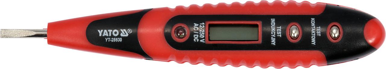 Индикатор напряжения цифровой YATO 12-250 В