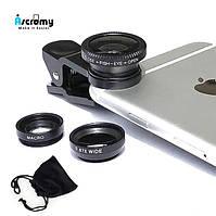 Комплект линз для телефона макролинза, Fish eye, широкоугольная