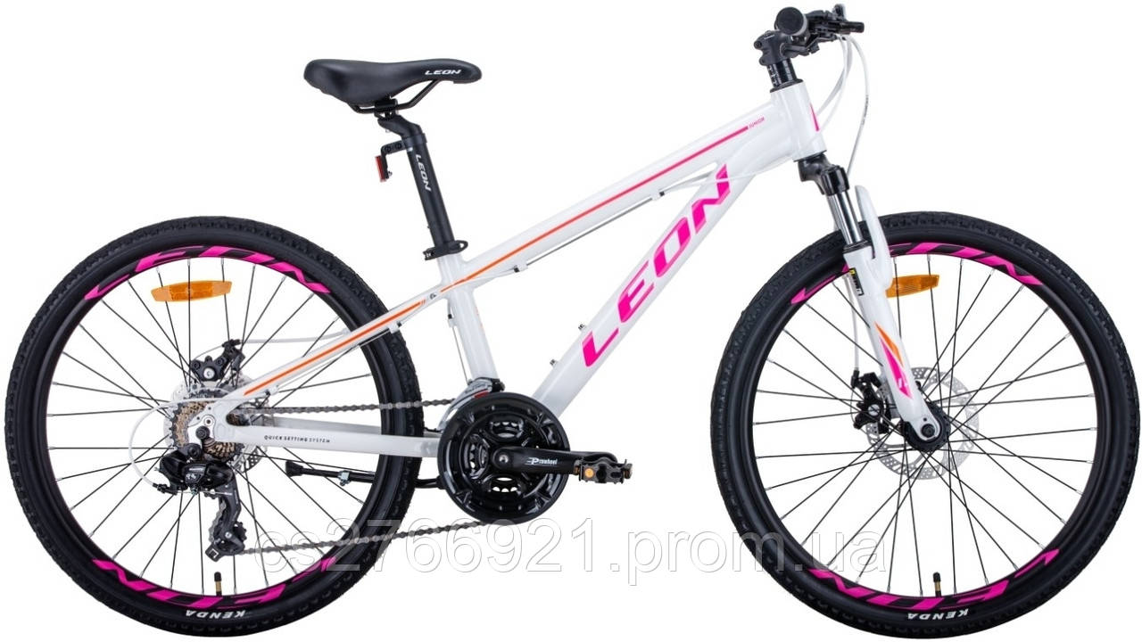 """Велосипед AL 24"""" Leon JUNIOR AM DD рама-12,5"""" антрацитовый с красным (м) 2020"""