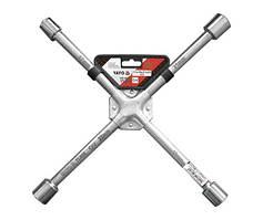 Ключ хрестоподібний для коліс зміцнений YATO, М17х19х21х22 мм [20]