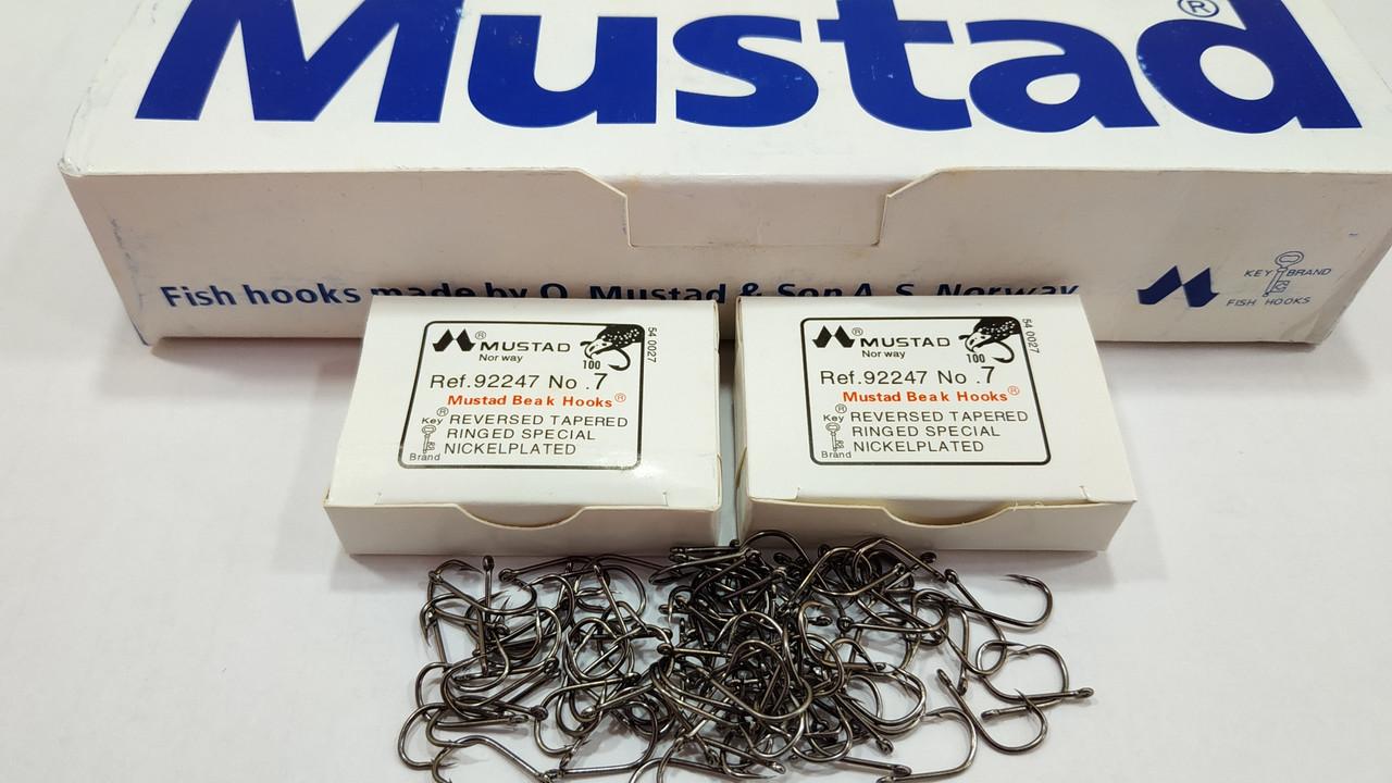 Рыболовные крючки Mustad √7 (100 штук в пачке )