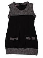 Платье - Сарафан для девочки черно-серый Marions (размер 122), фото 1