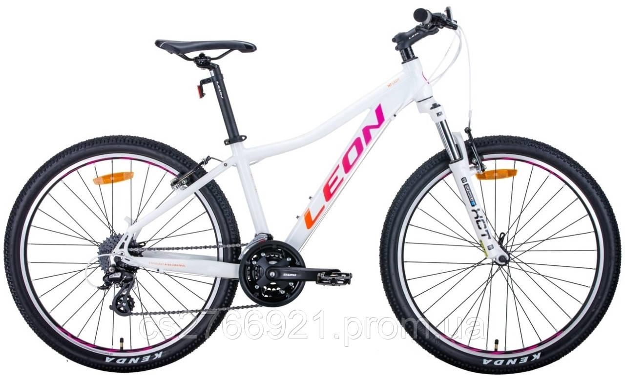 "Велосипед AL 26"" Leon HT-LADY AM Vbr рама-15"" бело-малиновый с оранжевим 2020"