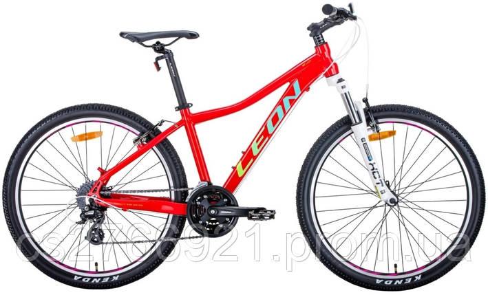 "Велосипед AL 26"" Leon HT-LADY AM Vbr рама-15"" бело-малиновый с оранжевим 2020, фото 2"