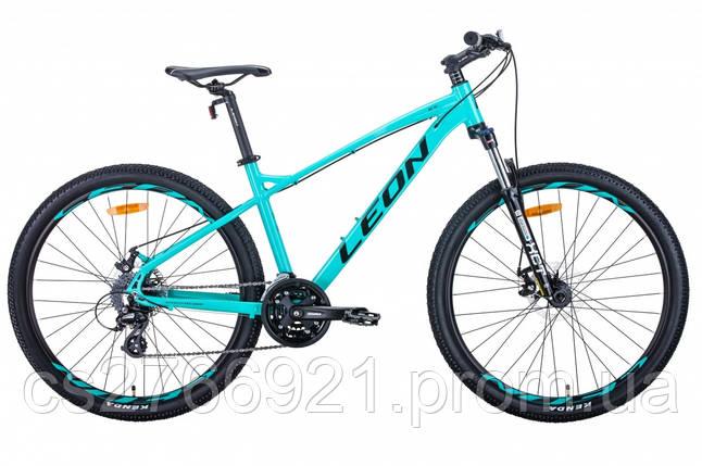 """Велосипед AL 27.5"""" Leon XC-90 AM preload DD рама-16.5"""" графитовый с красным (м) 2020, фото 2"""