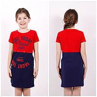 Платье летнее для девочки трикотажное Tontoy
