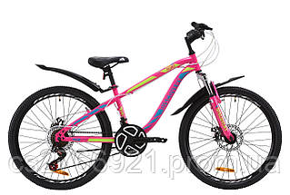 "Велосипед 24"" Discovery FLINT AM 14G DD St с крылом Pl 2020, фото 3"