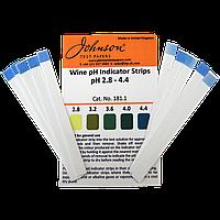 Індикаторні смужки на pH вина 2.8–4.4 JTP Wine pH Indicator Strips