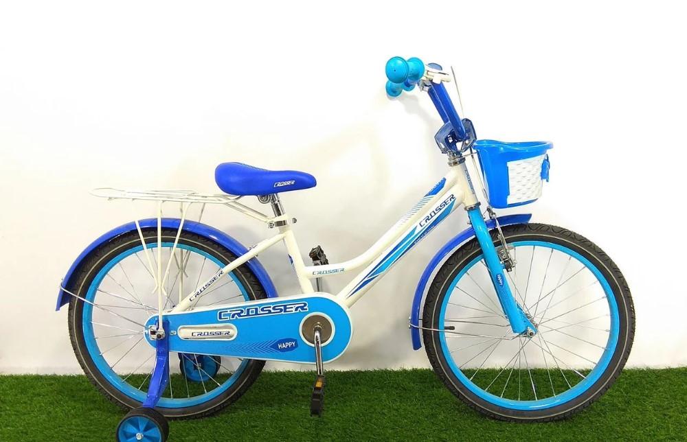 "Детский велосипед Crosser Happy 20"" синий"