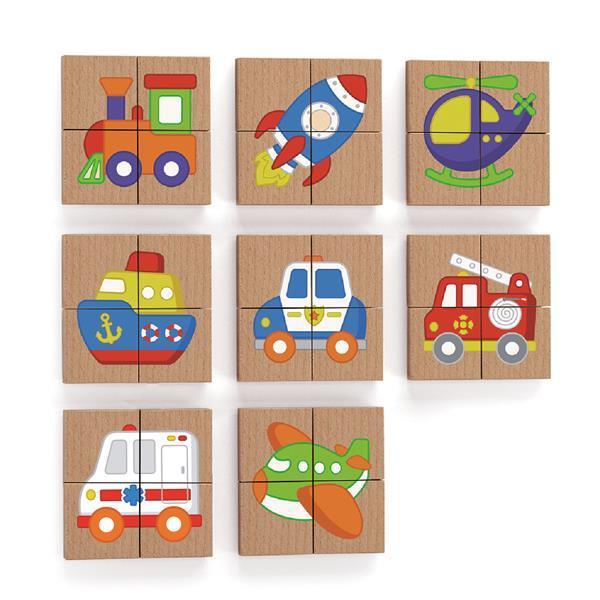 Магнитные пазлы Viga Toys Транспорт, 32 эл. (50723)