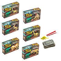 Детские раскопки динозавров, набор из 6 шт (укр), Strateg (30561)