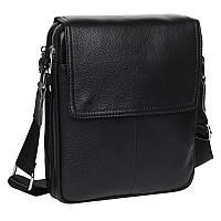 Мужская кожаная сумка через плечо Akor akK13508-black
