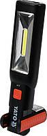 Ліхтар світлодіодний YATO переносний акумулятор 3.7 В з режимами 1+7 Ф=250 lm, фото 1