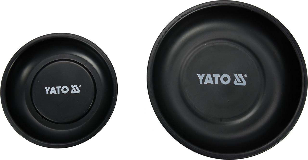 Миски магнітні круглі YATO Ø= 150 і 108 мм, 2 шт
