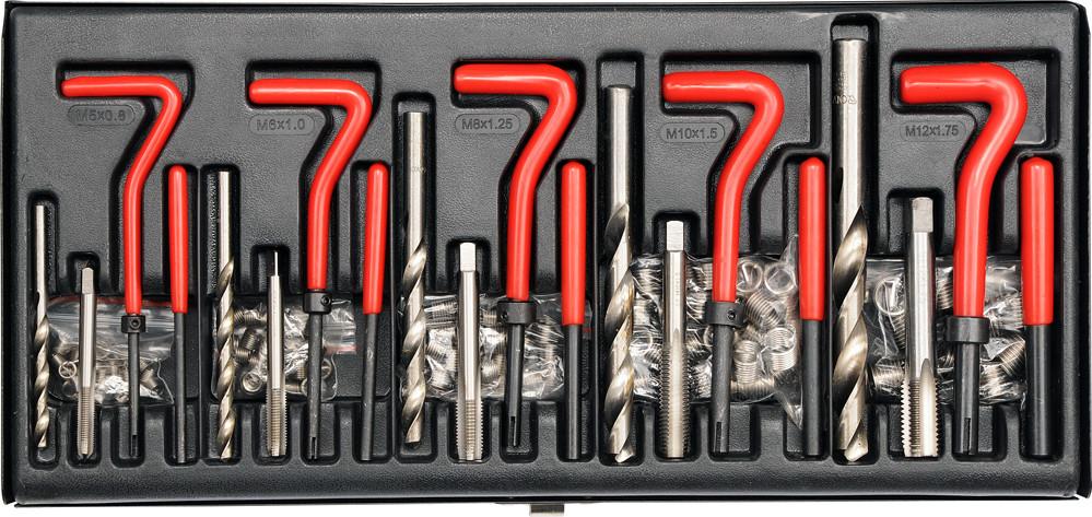 Набір інструментів для відновлення внутріш. різьби YATO, М5-М12 мм
