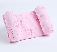 Детская подушка для сна SUNROZ Newborn Pillow позиционер для новорожденного ребенка Розовый (SUN6760)