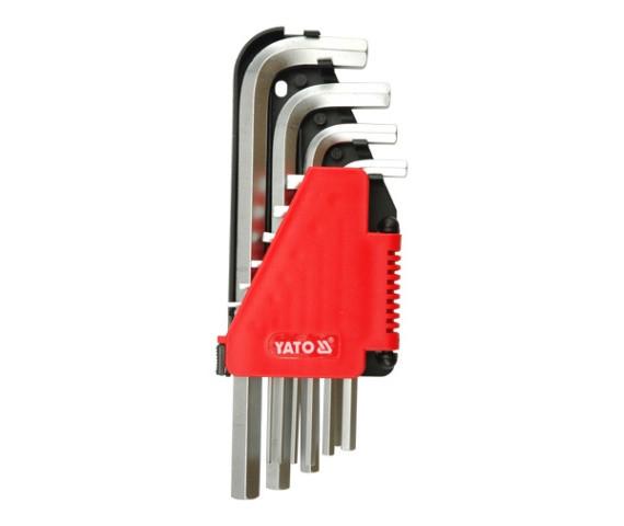 Набір шестигранних ключів Г-образних YATO М2-12 мм 10 шт