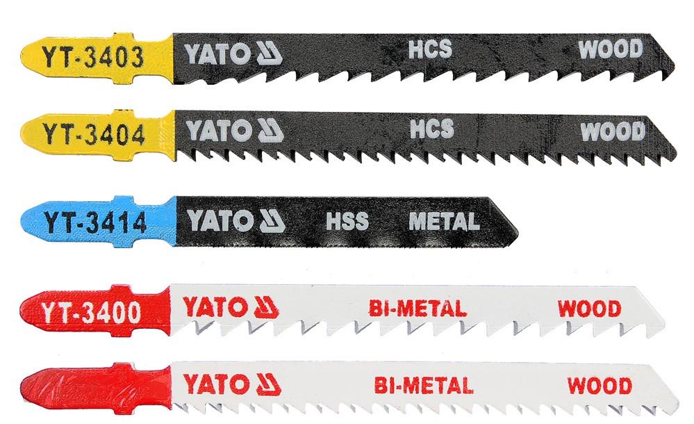 Набор пильных полотен для электролобзика (металл, дерево) YATO Bi-Metal 75-100 мм 5 шт