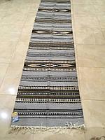 Доріжка ручної роботи шерстяна ткана 300*67 см