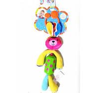 Активная игрушка-подвеска BIBA TOYS со звоночком Счастливый зайчонок (HA904)
