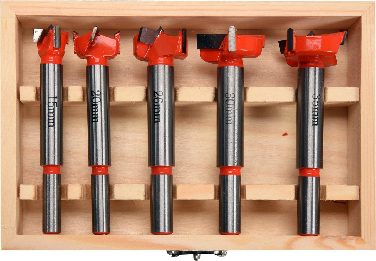 Набір свердел-фрез по дереву YATO 15-35 мм з шпинделями 8 і 10 мм 5 шт