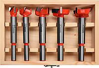 Набір свердел-фрез по дереву YATO 15-35 мм з шпинделями 8 і 10 мм 5 шт, фото 1