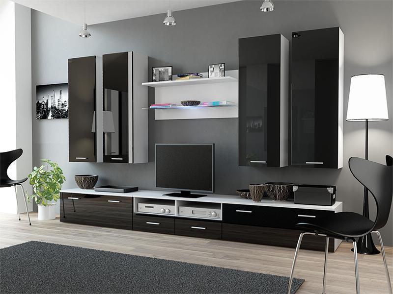 Вітальня DREAM 3 білий/чорний (Cama)