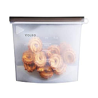 Силиконовый пищевой судок VOLRO многоразовый универсальный объем 1 л Белый (vol-539)