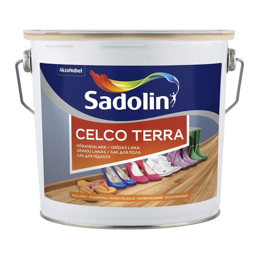 Лак для пола Sadolin Celco Terra износостойкий Полуглянцевый 45 2.5 л