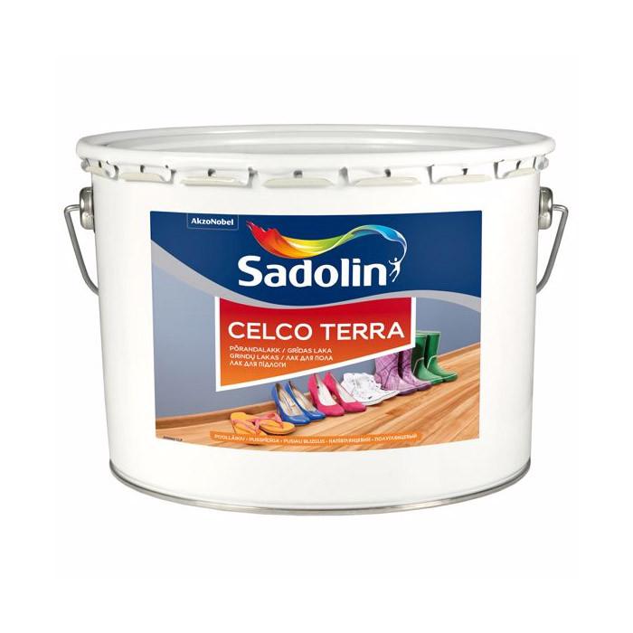 Лак для пола Sadolin Celco Terra износостойкий Полуглянцевый 45 10 л