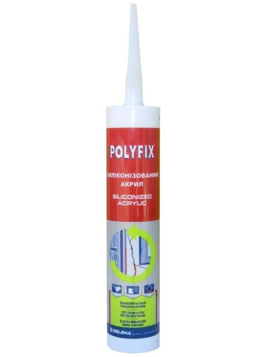 Силікон-акриловий герметик POLYFIX (білий) 500гр
